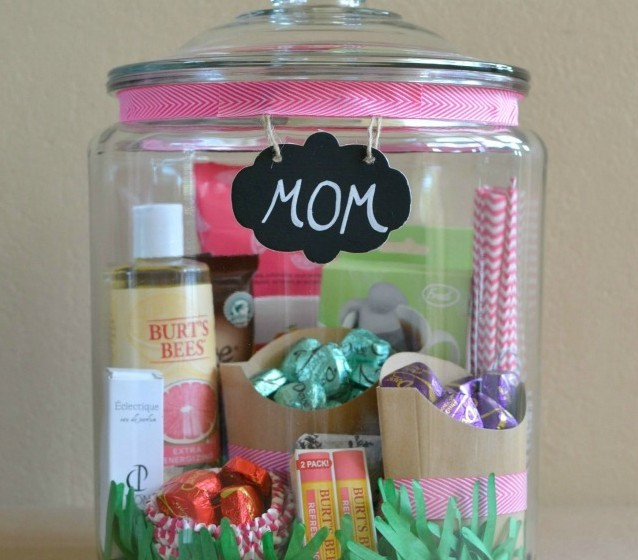 It Was Just A Big Empty Jar But Then It Was The Perfect Gift For Mother S Day Wise Diy Wise Diy