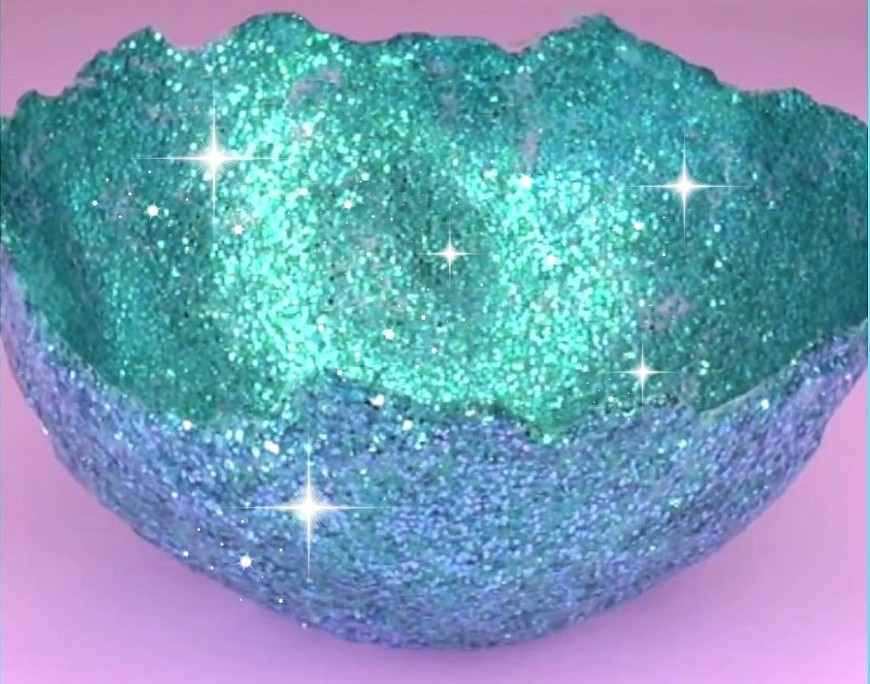 Make amazing glitter bowl at 28 images make amazing for Glitter balloon bowl