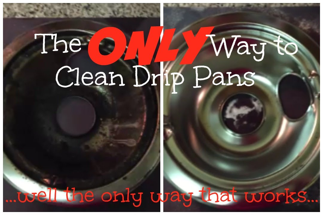 She Use An Amazing Technique To Get This Drip Pan Clean As