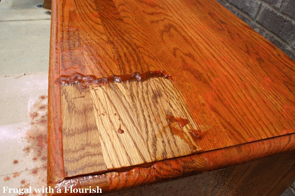 think you can t strip stain off furniture  think again