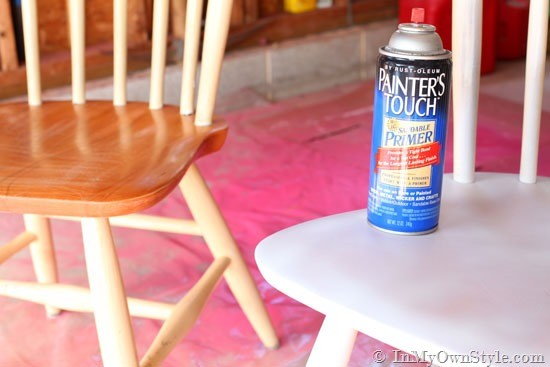 She had a bold idea for her set of wooden chairs and just How to spray paint wood furniture