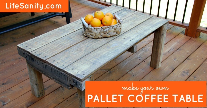 this pallet gets upcycled into a rad coffee table wise diy wise diy. Black Bedroom Furniture Sets. Home Design Ideas