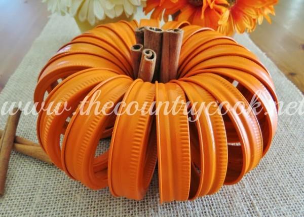 Mason Jar Lid Pumpkin 5