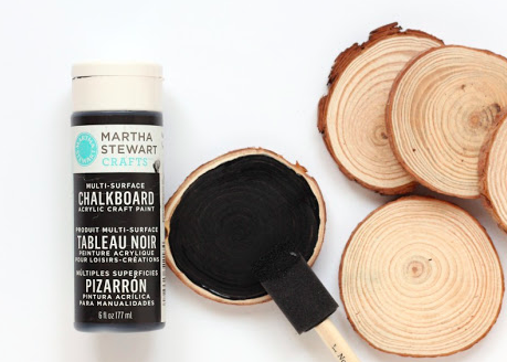 After These Wood Rounds Get Painted With Chalk Paint They Become